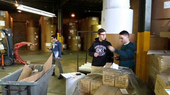 Students working at Kurtz Brothers