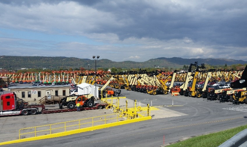 Picture of an equipment parking lot